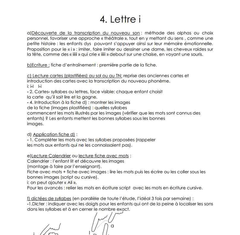 La lettre i