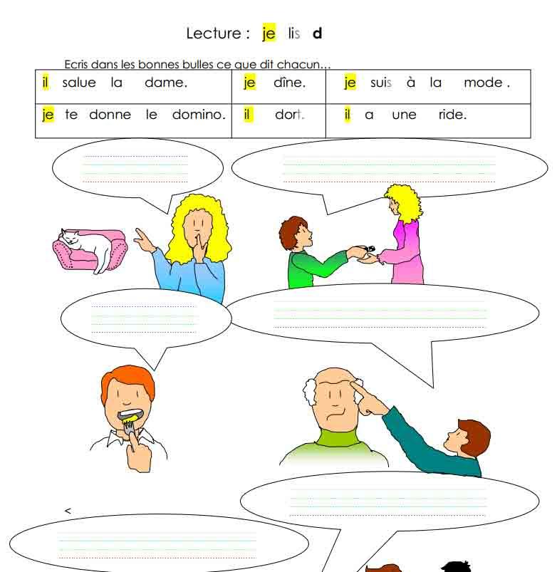 Lecture : je lis D