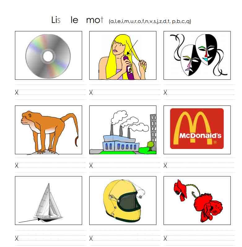 Lis le mot (a, l, e, i, m, u, r, o, f, n, v, s, j, z, d, t, p, b, c, q)