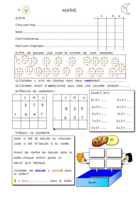 Programme semaine 11 Maths 5P Harmos