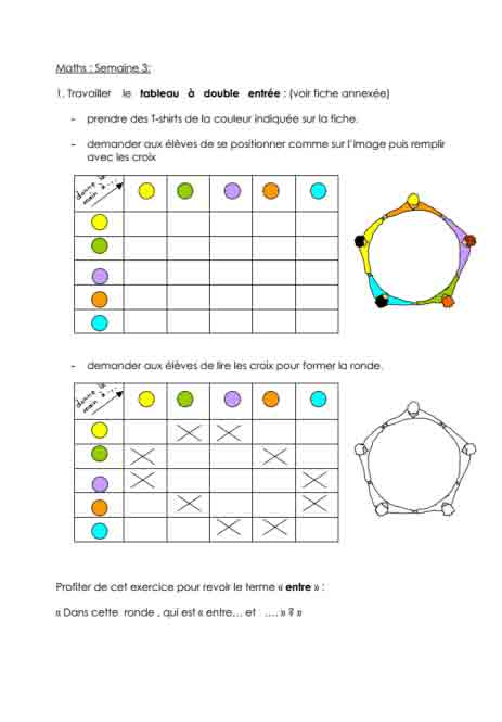Programme semaine 3 maths 5P Harmos