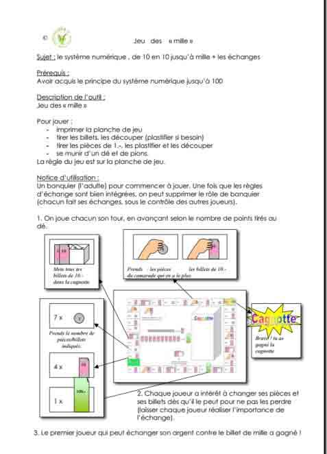Programme semaine 8 Maths 5P Harmos