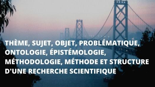 l'ontologie et l'épistémologie au coeur de la recherche