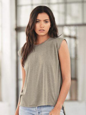 Custom Printed Bella Canvas Raw Edge Ladies Fit Shirt