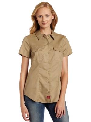 Method Screen Printing and Embroidery - Custom Printed Dickies Ladies Fit Work Shirt