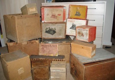 old boxes of porn
