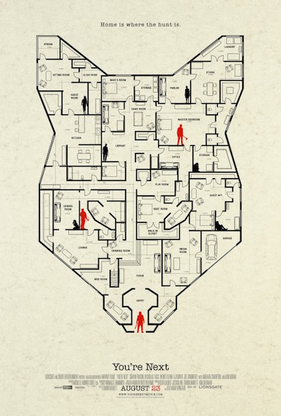 you're next house layout on mask poster