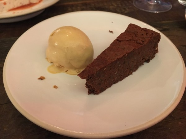 Bombetta London Dark Chocolate Torte and Salted Caramel Gelato