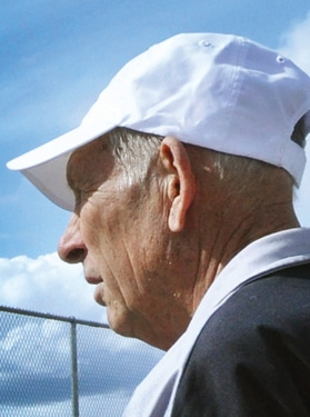 Dave Shulz at the MVSD tennis courts. File photo by Sue Misao