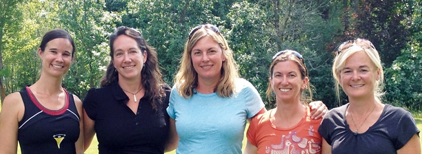 The staff of the Methow Valley Community School, from left: Natalie Otto, Keri Miles, Nancy Juergens, Hana Baker, Deb Jones-Schuler. Not pictured: Nora Jacobs. Photo courtesy of the MV Community School