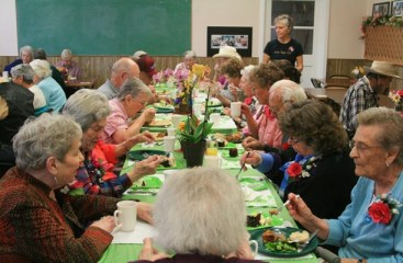 Low-cost meals are served at the MV Senior Citizens Center in Twisp every Monday, Thursday and Friday. File photo by Marcy Stamper