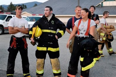 New recruits Shane Higbee, left, Derek Poindexter and Kristina Liu. Photo by Laurelle Walsh