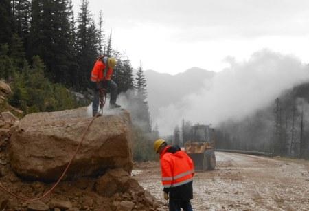 Mudslide on Highway 20. Photo courtesy of WSDOT