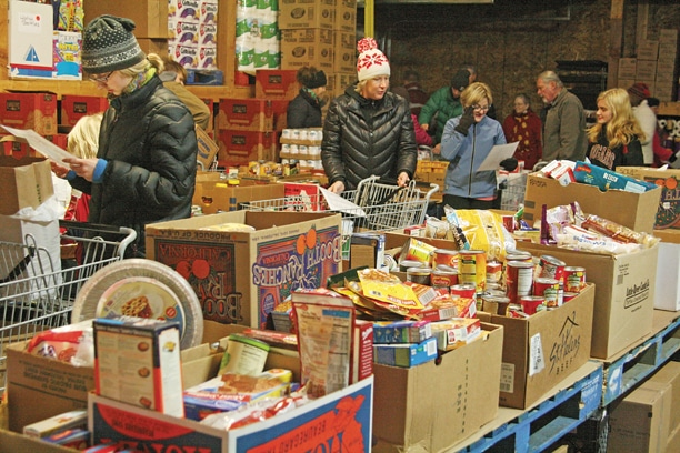 Seven thousand dollars — or more than $1 per Methow Valley resident—was contributed this year by individuals and businesses for food baskets for Neighbors Helping Neighbors and gifts for the Manger Mall.