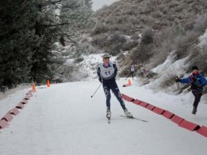 Gregg Strome, Winthrop, finished second with a time of 1:19:19. Photo by Don Nelson
