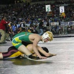 Danny Humiston lost a second-round match to Matthew  Lewis of South Bend in the 126-pound division. Photo by Callie Fink