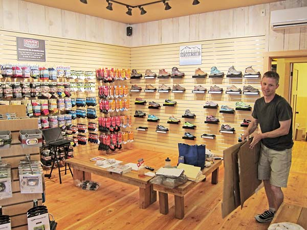 Brian Sweet at the Cascades Outdoor Store. Photo by Don Nelson