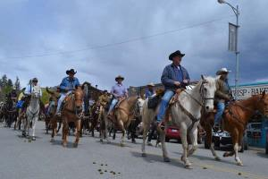 On Tuesday, May 6, the Ride to Rendezvous passed through downtown Twisp. Photo by Laurelle Walsh