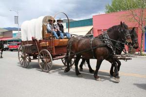 On Tuesday, May 6, the Ride to Rendezvous passed through downtown Twisp. Photo by Darla Hussey