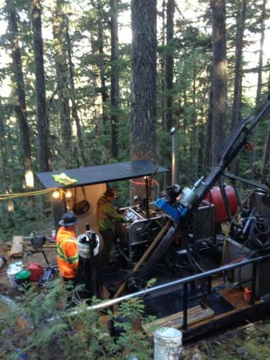 The drill rigs. Photo courtesy USFS