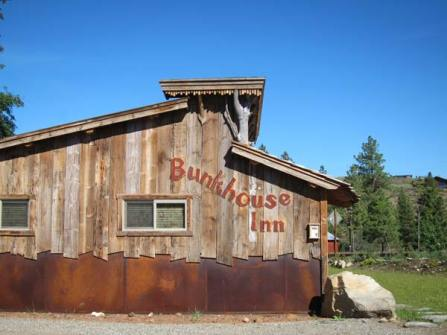 The identifying sign painted on the Bunkhouse Inn apparently violates a town zoning code and may have to be altered or removed. Photo by Don Nelson