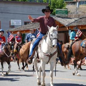 Larry Zimmerlund with the Methow Valley Rodeo Association. Photo by Dana Sphar