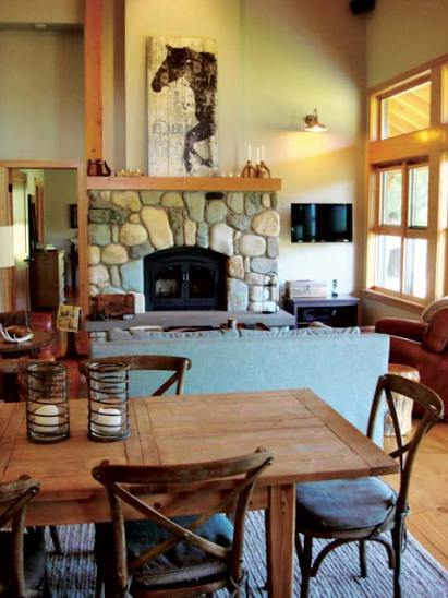 A variety of home styles will be represented on the Methow Valley Home tour this Saturday in the Mazama area. Photo courtesy of Louise Stevens