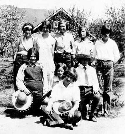 Photo courtesy of Kathleen Bigger Dorothy, on the left in the back row, with some of her Carlton friends.