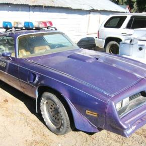 'Purple police car' on the auction block