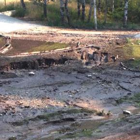 Flash flood, mud hit Texas Creek property again