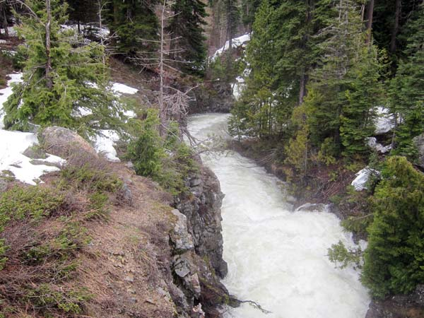 Photo by Don Nelson Runoff-swollen Silver Star Creek thrashes through a gorge on its way to the Methow River.