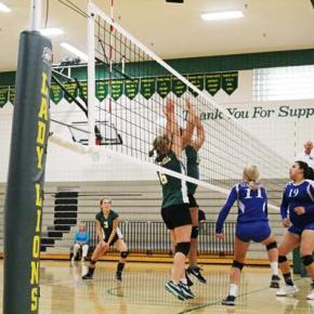 LBHS volleyball team drops two tough matches