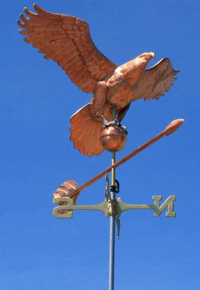 Photo by Marcy StamperThe weathervane was crafted by local metal artist Jessica da Costa.