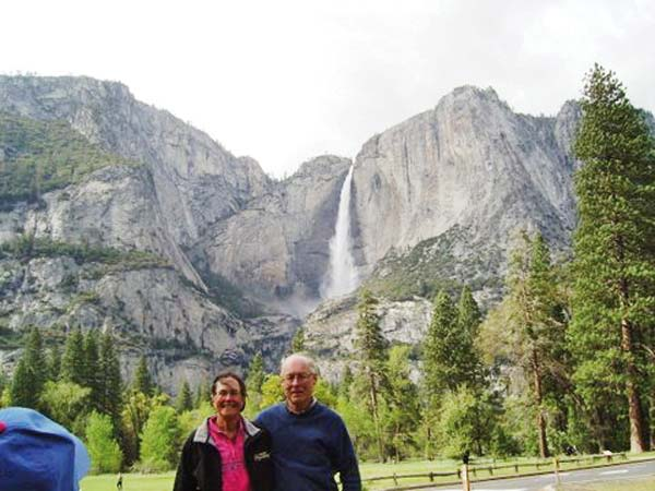 Photo courtesy of Dave and Marilyn Sabold Marilyn and Dave Sabold recently revisited Yosemite National Park, where they were married 50 years ago.