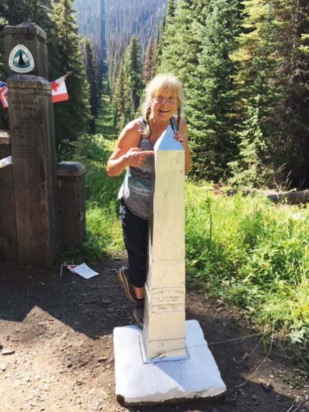 Photos courtesy of Chris Ballard Chris Ballard at the U.S.-Canada border: a noteworthy one-day hike.
