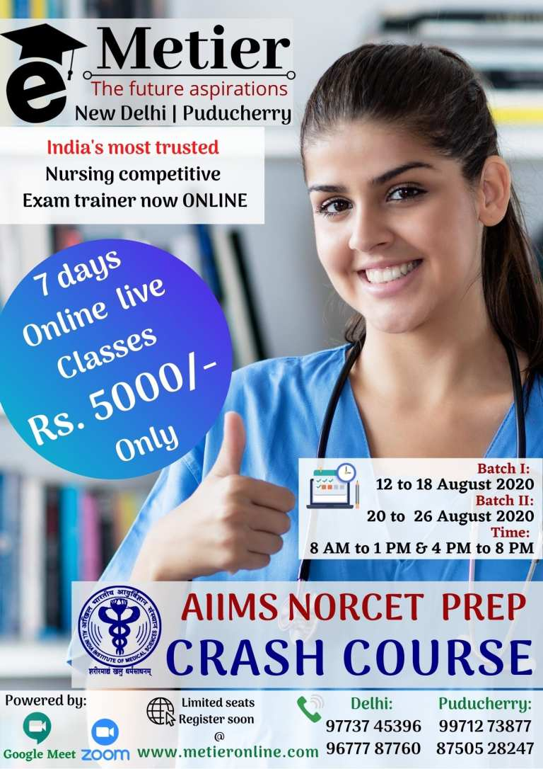 AIIMS NORCET CRASH COURSE 2020