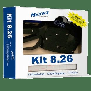 Kit Etiquetadora 8.26 8 Dígitos + Etiquetas Brancas (26mmx12mm)