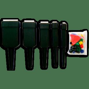 5 Pincéis Com Ponteira + Batente + Tampas Coloridas