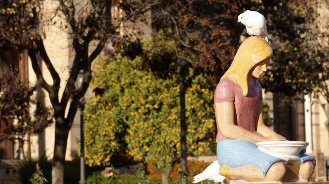 Las Fuentes de las Palomas regresan a la Plaza de América