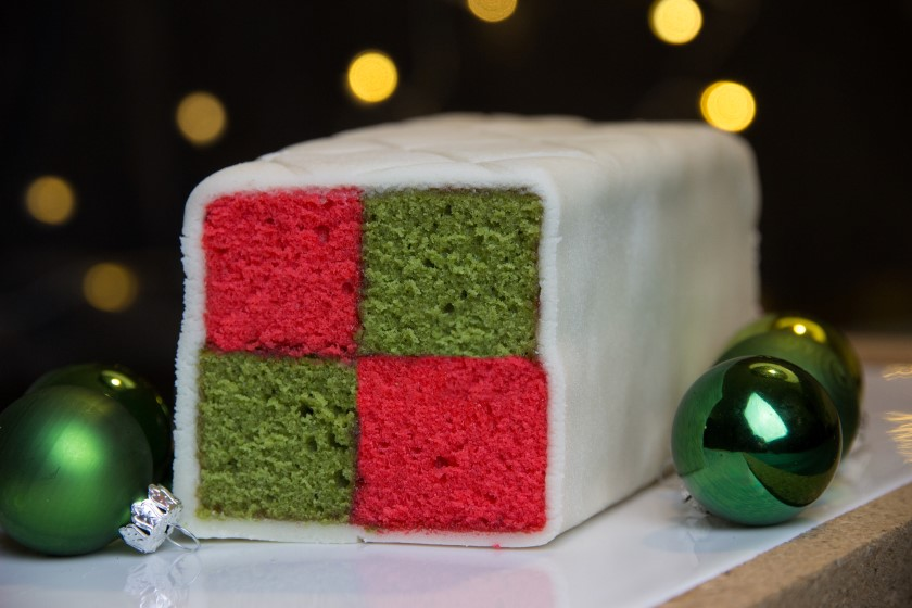 "Battenberg cake ""Christmas edition"""