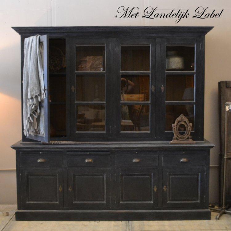 Buffetkast Claudia Old Black  Met Landelijk Label