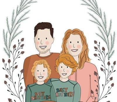 Getekend-Familieportret-Maryke-Mondria