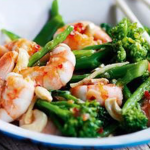 Stir-Fried Prawns with Brocolli