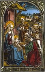 glass medieval stained magi adoration peter german timeline museum germany von window metropolitan europe history 1996 circle strassburger andlau hemmel