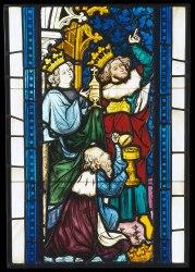 stained glass magi medieval christ adoration windows seven scenes church museum europe renaissance stain history 1986 religious legend theodosius ephesus