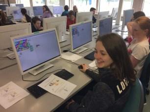 6th Class enjoy Scratch workshop at IADT
