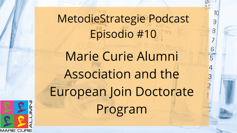 Marie Curie Alumni Association and the European Joint Doctorate Programme