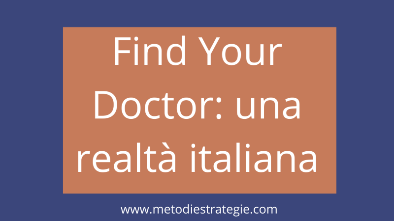 Find Your Doctor: una realtà italiana