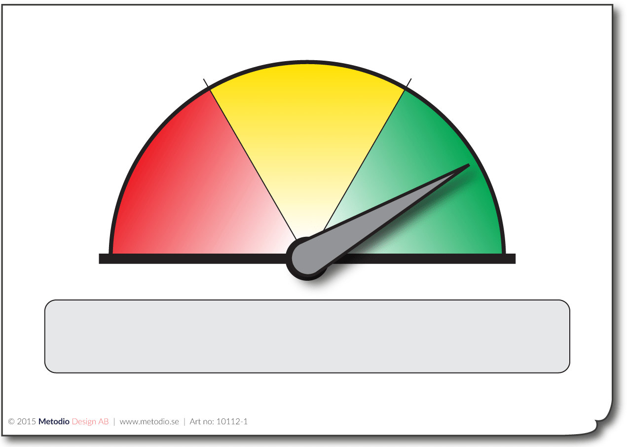 Red Yellow Green Gauge With Indicator A5 A4 A3
