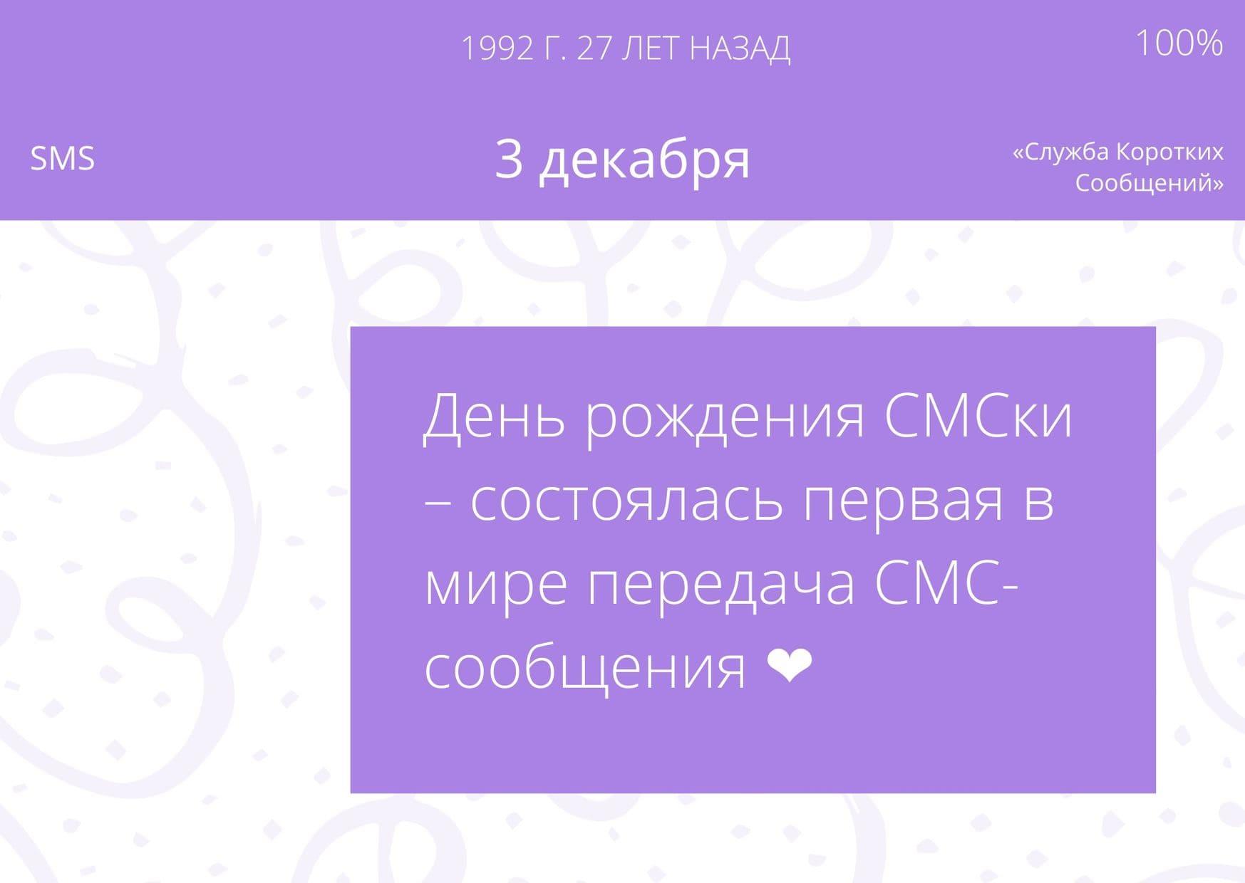 День рождения СМСки. 3 декабря